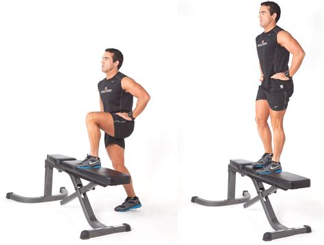 bench step ups with dumbbells glute workout body part you need to target bowflex