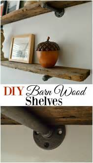 Kitchen Wall Cabinet Brackets diy barn wood shelves