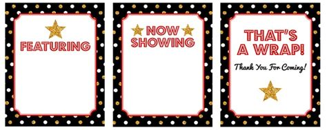 printable hollywood decorations 27 hollywood party decorations free printable tip junkie