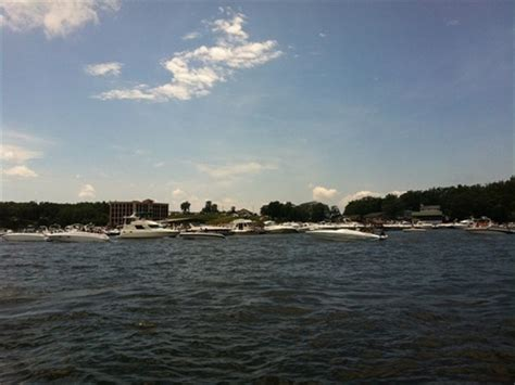 used boat parts lake of the ozarks hundreds of boats tied together as bands played at dog