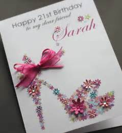 Handmade Personalised Cards Uk - large a5 handmade personalised floral shoe birthday card