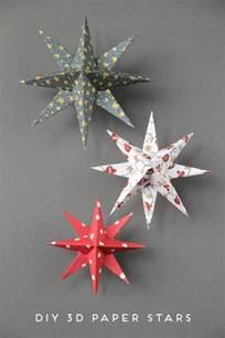 3d ornaments diy 3d paper decorations gathering