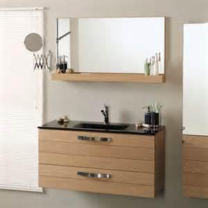 meuble miroir meuble vasque 2 tiroirs l100xp46xh52cm miroir 233 tag 232 re