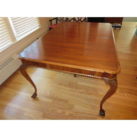 antique mahogany clawfoot dining table chairish