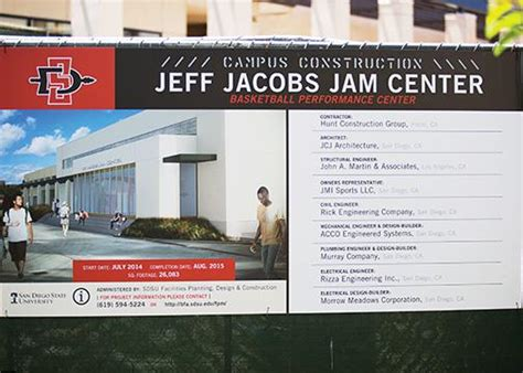Jam Senter what chargers stadium issue sdsu s jam center almost finished the daily aztec