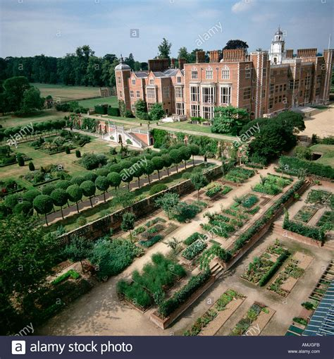 home of queen elizabeth hatfield house and formal gardens uk aerial view home to