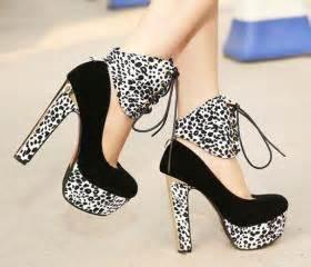 Heel Fashion 7058 leopard print lace up high heel pumps on luulla