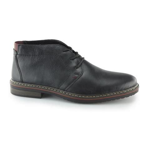 rieker 30423 mens smart leather desert boots black buy
