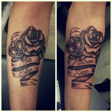 rose tattoos with names in them best 25 with name ideas that you will like on