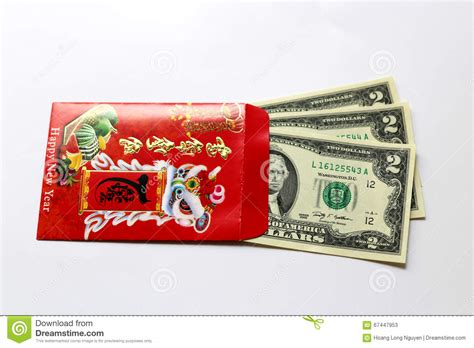 new year lucky money us mint envelop and lucky money us dollar stock image image