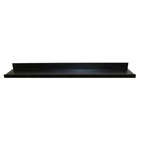Floating Picture Shelf by Lewis Hyman 60 In W X 4 5 In D X 3 5 In H Black Mdf