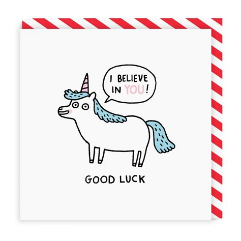 gud luck good luck unicorn square greeting card ohh deer