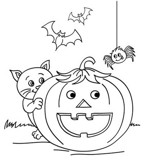 garfield halloween coloring pages images