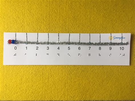 printable ruler for visually impaired interactive number lines for solving math problems for
