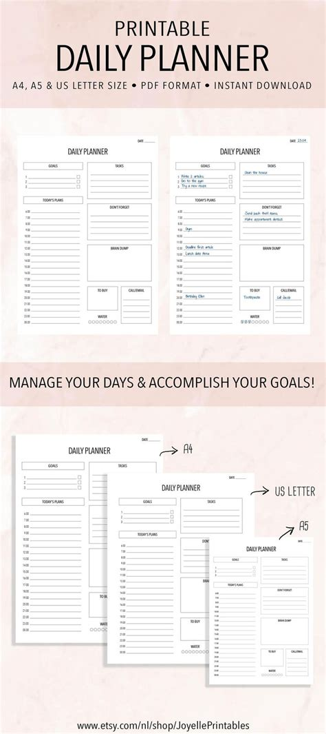printable daily planner for work printable daily planner work planner this planner will