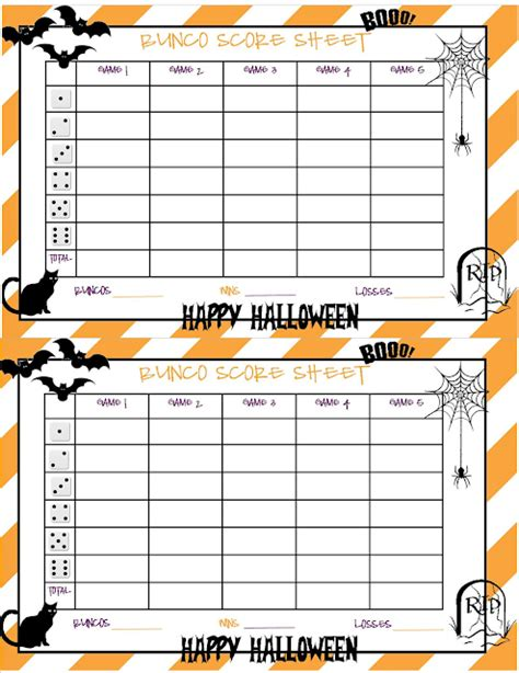 free bunco score card templates recipes from bunco sheet