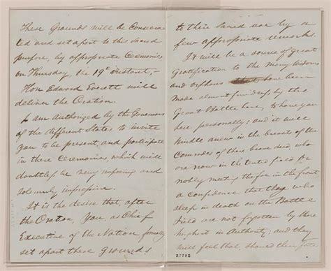 abraham lincoln letter to principal exhibition items gettysburg address exhibitions