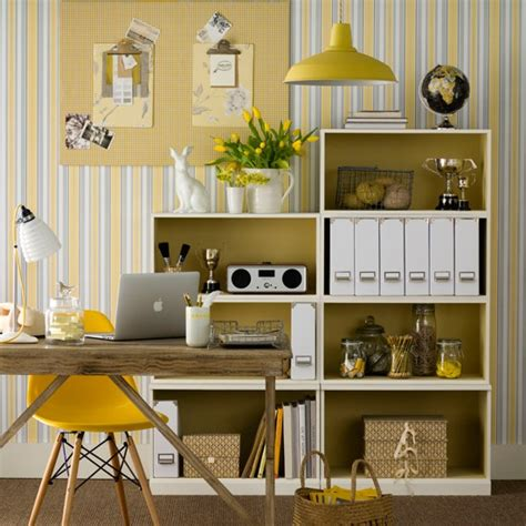 home office ideas that really work housetohome co uk neutral home office with yellow accents home office