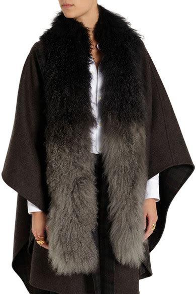 karl donoghue boa ombr 233 shearling scarf net a porter
