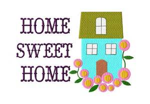 free home sweet home machine embroidery design daily