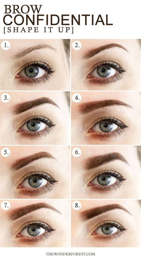 most common eyebrow shape best 25 different eyebrow shapes ideas on pinterest