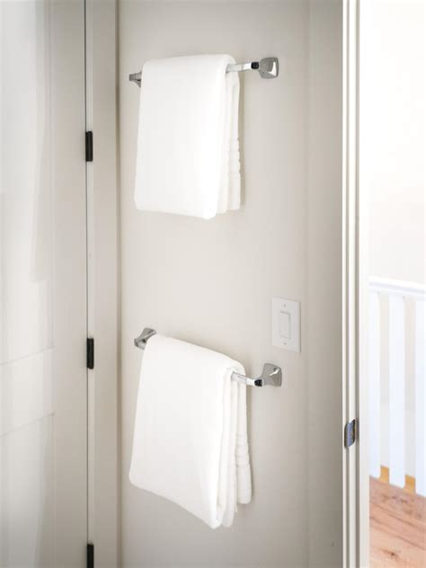 bathroom door towel racks photo page hgtv