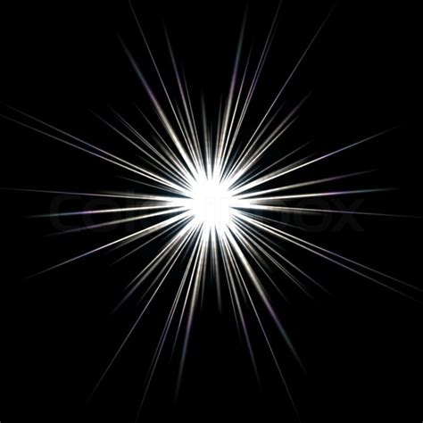 flash reproduce picture on black background with soft a bright solar flare over a black background stock