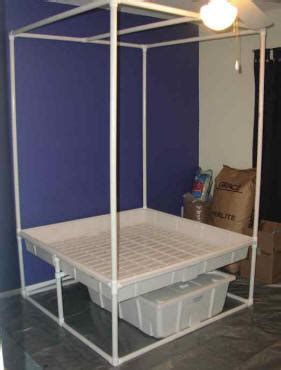 pvc hydroponics stand clever design cheap  build