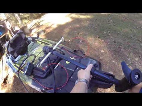 big rig kayak trolling motor setup youtube