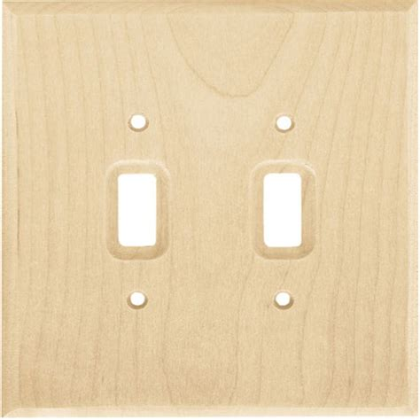 light switch and outlet covers unfinished wood stainable double light switch wallplate