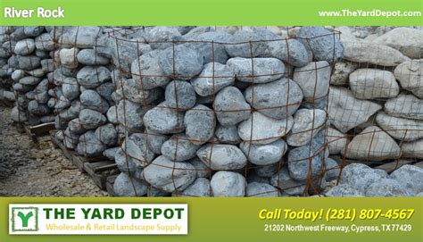 landscape rock  yard depot  cypress wholesale