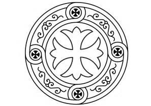 Image Coloring Coptic Cross 19 صورة صليب قبطي  sketch template
