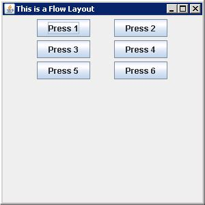 default layout manager for panels and applets flowlayout the default layout manager for a jpanel