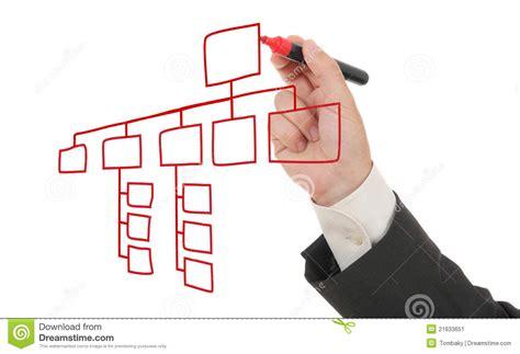 draw organization chart businessman drawing an organization chart stock image