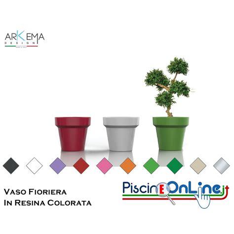 vaso in resina da esterno vaso fioriera in resina colorata per interno ed esterno