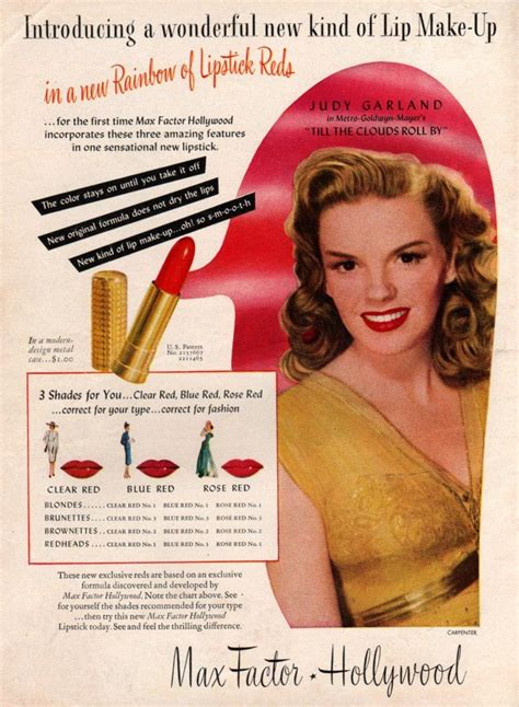 1940s Makeup Ad Www Imgkid Judy Garland For Max Factor Lipstick Ad Makeup