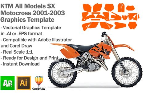 motocross graphic templates ktm sx mx motocross all models 2001 2002 2003 graphics