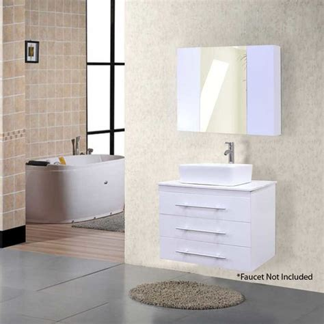 design element bathroom vanities design element 30 quot portland single vessel bathroom vanity