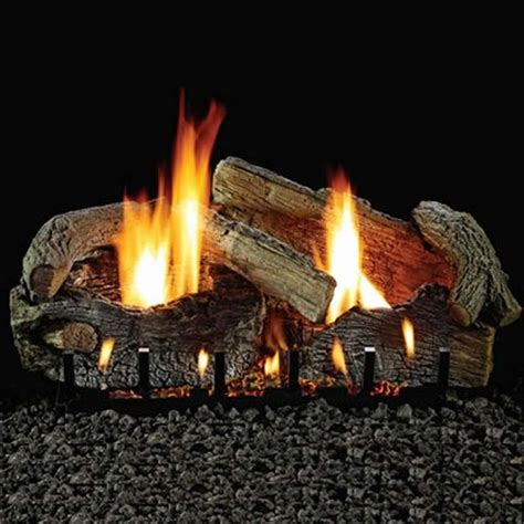 empire 18 quot stacked aged oak refractory vented propane gas