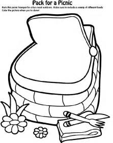 crayola coloring pages food pack for a picnic crayola ca