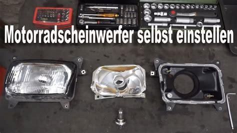 Motorrad Scheinwerfer Einstellung by Scheinwerfer Am Motorrad Selbst Einstellen Tutorial Youtube