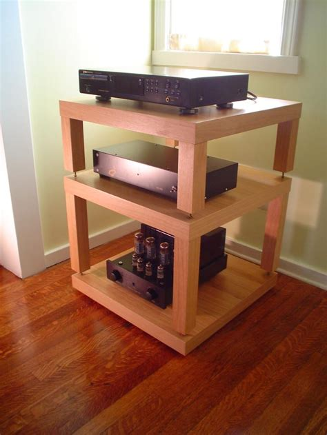 ikea hifi rack hack another great looking hifi rack built from ikea lack side