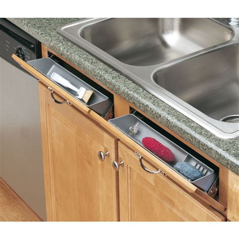 kitchen sink cabinet tray cabinetstorage 6572 series sink front tip out trays