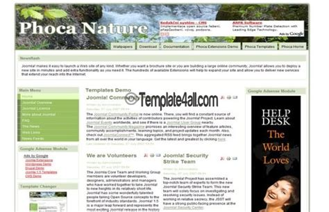 free clean green joomla nature template download