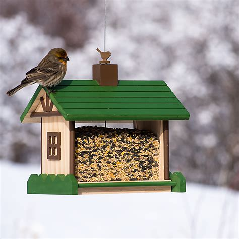 Timber Bird Feeder Mountain Lodge Wood Bird Feeder