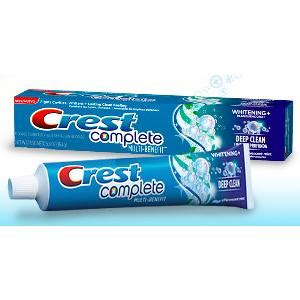 crest complete multi benefit toothpaste sample