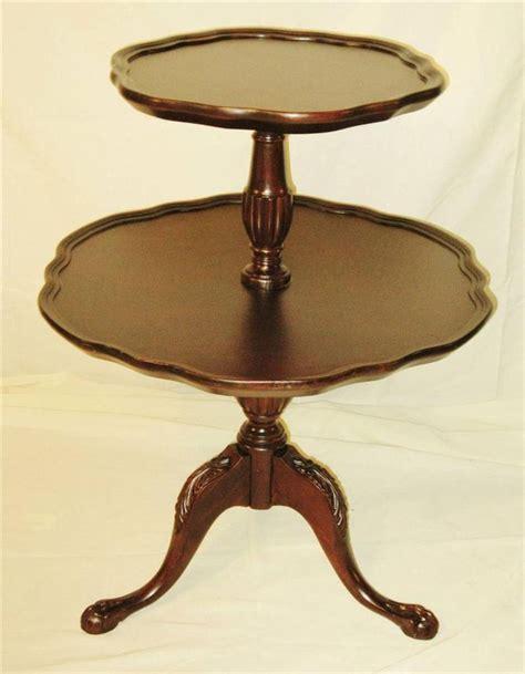 three tier table antique antique vintage mersman mahogany wood 2 tier pie