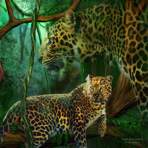 Cheetah Print Duvet Jungle Spirit Leopard Mixed Media By Carol Cavalaris