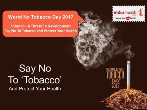 say no day world no tobacco day 2017 say no to tobacco and protect