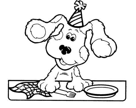 free printable blues clues coloring pages for